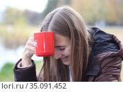Осенний портрет девочки-подростка. Стоковое фото, фотограф Светлана Ясинская / Фотобанк Лори