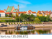 Warsaw, Mazovia / Poland - 2020/05/09: Panoramic view of Stare Miasto... Редакционное фото, фотограф bialorucki bernard / age Fotostock / Фотобанк Лори