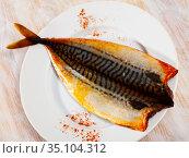 Scomber with smoked paprika. Стоковое фото, фотограф Яков Филимонов / Фотобанк Лори