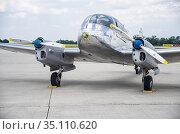 Czechoslovakia twin-piston engined civil utility aircraft Aero 45... Стоковое фото, фотограф Torsten Büttner / age Fotostock / Фотобанк Лори