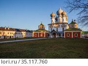 Assumption Cathedral of Tikhvin Monastery. Стоковое фото, фотограф Юлия Бабкина / Фотобанк Лори
