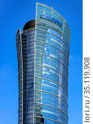 Warsaw, Mazovia / Poland - 2020/05/02: Main tower of Warsaw Spire... Редакционное фото, фотограф bialorucki bernard / age Fotostock / Фотобанк Лори
