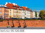 Warsaw, Mazovia / Poland - 2020/05/10: Panoramic view of Starowka... Редакционное фото, фотограф bialorucki bernard / age Fotostock / Фотобанк Лори