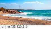 Athens, Attica / Greece - 2018/04/01: Panoramic view of Piraeus yacht... Редакционное фото, фотограф bialorucki bernard / age Fotostock / Фотобанк Лори