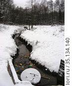 Липитинский ручей в Измайловском лесопарке. Район Измайлово. Город Москва (2011 год). Стоковое фото, фотограф lana1501 / Фотобанк Лори