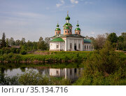 Cathedral of the Smolensk Icon of the Mother of God in Olonets, Karelia, Russia (2014 год). Стоковое фото, фотограф Юлия Бабкина / Фотобанк Лори