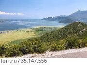 The Montenegrin section of the lake Skadar. Area of national park, Montenegro (2016 год). Стоковое фото, фотограф Кекяляйнен Андрей / Фотобанк Лори