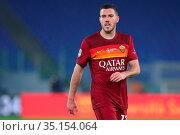 Jordan Veretout ( Roma) during the match ,Rome, ITALY-17-12-2020. Редакционное фото, фотограф Federico Proietti / Sync / AGF/Federico Proietti / / age Fotostock / Фотобанк Лори