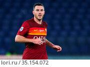 Jordan Veretout (Roma) during the match ,Rome, ITALY-17-12-2020. Редакционное фото, фотограф Federico Proietti / Sync / AGF/Federico Proietti / / age Fotostock / Фотобанк Лори