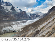 Glacier Pasterze at Mount Grossglockner, which is melting extremely... Стоковое фото, фотограф Martin Zwick / age Fotostock / Фотобанк Лори
