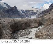 Mount Johannisberg and glacier Pasterze at Mount Grossglockner, which... Стоковое фото, фотограф Martin Zwick / age Fotostock / Фотобанк Лори