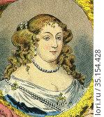 Old color lithography portrait of Anne Marie Louise d'Orleans, Grande... Стоковое фото, фотограф Jerónimo Alba / age Fotostock / Фотобанк Лори