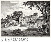 Chateau de Coppet. Castle of Coppet, Canton of Vaud. Switzerland. ... Стоковое фото, фотограф Jerónimo Alba / age Fotostock / Фотобанк Лори