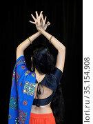 Indian dancer. Paris, France. Стоковое фото, фотограф Philippe Lissac / Godong / age Fotostock / Фотобанк Лори