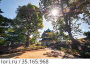 The way to the Fujimi Yagura defensive turret of Edo castle. Imperial Palace. Tokyo. Japan (2019 год). Стоковое фото, фотограф Serg Zastavkin / Фотобанк Лори