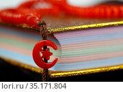 Quran and Tasbih (muslim prayer beads). France. Стоковое фото, фотограф Fred de Noyelle / Godong / age Fotostock / Фотобанк Лори