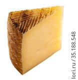 Wedge of aged sheep cheese. Стоковое фото, фотограф Яков Филимонов / Фотобанк Лори