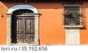 Colonial design in Central America. Antigua Guatemala, Republic of Guatemala. Стоковое фото, фотограф Николай Коржов / Фотобанк Лори