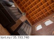 Интерьер базилики римского императора Константина в центре Трира, Германия (2018 год). Редакционное фото, фотограф V.Ivantsov / Фотобанк Лори