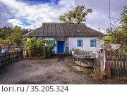House of returnee residents (so called Samosely - self settlers) ... Стоковое фото, фотограф Konrad Zelazowski / age Fotostock / Фотобанк Лори