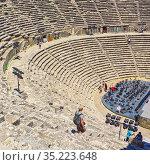Aspendos, Antalaya Province, Turkey. The Roman theatre, built in ... Стоковое фото, фотограф Ken Welsh / age Fotostock / Фотобанк Лори