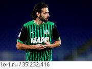 Gian Marco Ferrari (Sassuolo) during the match ,Rome, ITALY-24-01... Редакционное фото, фотограф Federico Proietti / Sync / AGF/Federico Proietti / / age Fotostock / Фотобанк Лори