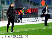 Roberto De Zerbi Coach Sassuolo during the match ,Rome, ITALY-24-... Редакционное фото, фотограф Federico Proietti / Sync / AGF/Federico Proietti / / age Fotostock / Фотобанк Лори