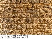 closeup red brick masonry wall background. Стоковое фото, фотограф Константин Лабунский / Фотобанк Лори