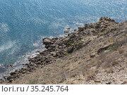 Seascape sea rocky seashore. Стоковое фото, фотограф Юрий Бизгаймер / Фотобанк Лори