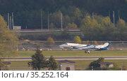 Business jet landing in Sochi. Редакционное видео, видеограф Игорь Жоров / Фотобанк Лори