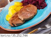 Juicy veal Hip Medallion. Стоковое фото, фотограф Яков Филимонов / Фотобанк Лори