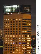 Stockholm, Sweden Towers in the Liljeholmskajen neighbourhood at ... Стоковое фото, фотограф A. Farnsworth / age Fotostock / Фотобанк Лори