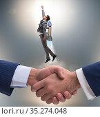 Businessman in start up business concept. Стоковое фото, фотограф Elnur / Фотобанк Лори
