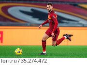 Borja Mayoral (Roma) during the match ,Rome, ITALY-31-01-2021. Редакционное фото, фотограф Federico Proietti / Sync / AGF/Federico Proietti / / age Fotostock / Фотобанк Лори