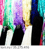 Blur in iran scarf in a market texture abstract of colors and bazaar... Стоковое фото, фотограф Zoonar.com/LKPRO / easy Fotostock / Фотобанк Лори