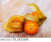 Physalis peruviana ripe fruits. Стоковое фото, фотограф Яков Филимонов / Фотобанк Лори