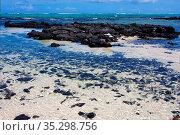 Boat foam footstep indian ocean some stone in the island of deus cocos... Стоковое фото, фотограф Zoonar.com/lkpro / easy Fotostock / Фотобанк Лори