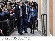 Italian outgoing Public Education minister Lucia Azzolina (R), a ... Редакционное фото, фотограф Fotia/AGF/Francesco Fotia / age Fotostock / Фотобанк Лори