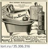 Europa, Deutschland, Berlin, Werbung der Firma ' Moosdorf & Hochhäusler... Редакционное фото, фотограф Historisches Auge Ralf Feltz / age Fotostock / Фотобанк Лори