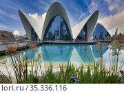 L'Oceanografic, Ciudad de las Artes y las Ciencias, Valencia, Comunidad... Стоковое фото, фотограф Javier Larrea / age Fotostock / Фотобанк Лори