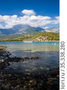 Bay at Phaselis near Kemer, Antalya Province, Mediterranean Coast... Стоковое фото, фотограф Matthew Williams-Ellis / age Fotostock / Фотобанк Лори
