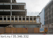 Berlin, Germany - demolition of a GDR administration building from 1973 in Berlin-Mitte (2018 год). Редакционное фото, агентство Caro Photoagency / Фотобанк Лори