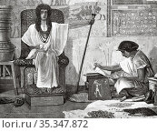 Joseph of Egypt rises from slavery to become overseer of pharaoh'... Редакционное фото, фотограф Jerónimo Alba / age Fotostock / Фотобанк Лори