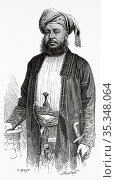 Portrait of Sayyid Barghash bin Said Al-Busaid (1837 -1888) Second... Редакционное фото, фотограф Jerónimo Alba / age Fotostock / Фотобанк Лори