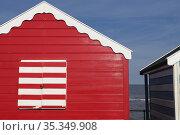 Summer in Suffolk. Beach huts in Southwold,UK. Стоковое фото, фотограф Dariusz Gora / easy Fotostock / Фотобанк Лори