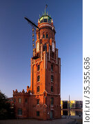 Leuchtturm Bremerhaven, Bremerhaven Oberfeuer, Neuer Hafen, Bremerhaven... Стоковое фото, фотограф Zoonar.com/Stefan Ziese / age Fotostock / Фотобанк Лори