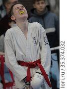 Соревнования по карате. Редакционное фото, фотограф Дмитрий Неумоин / Фотобанк Лори