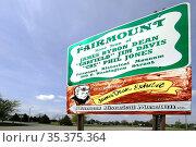 James Byron Dean Boyhood hometown and burial place Fairmount Indiana... Стоковое фото, фотограф Dennis MacDonald / age Fotostock / Фотобанк Лори