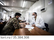 Start of the vaccination campaign against Covid-19 by the personnel... Редакционное фото, фотограф Francesco Fotia / AGF/Francesco Fotia / AGF / age Fotostock / Фотобанк Лори