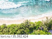 Takamaka beach nature vacation paradise ocean copyspace copy space... Стоковое фото, фотограф Markus Mainka / easy Fotostock / Фотобанк Лори